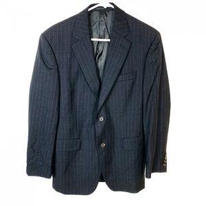 Lauren Ralph Lauren Pinstripe Gray Suit Jacket 38S